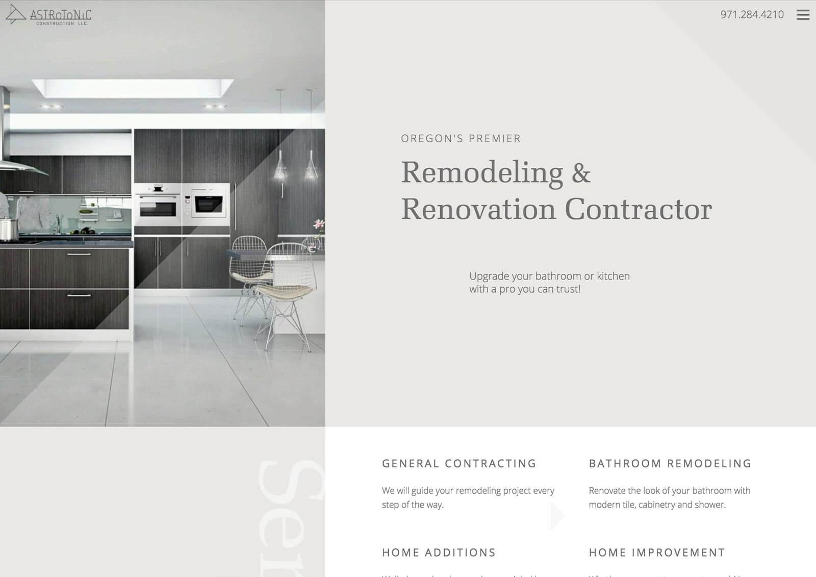 Remodeling Business Website Redesign
