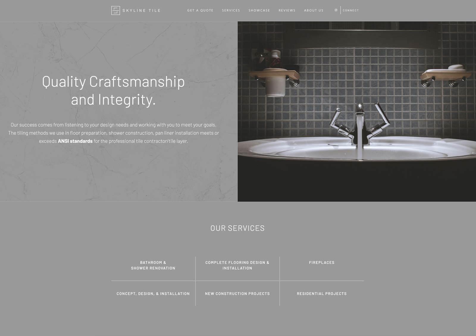 Tile and Remodeling Wordpress Website Design