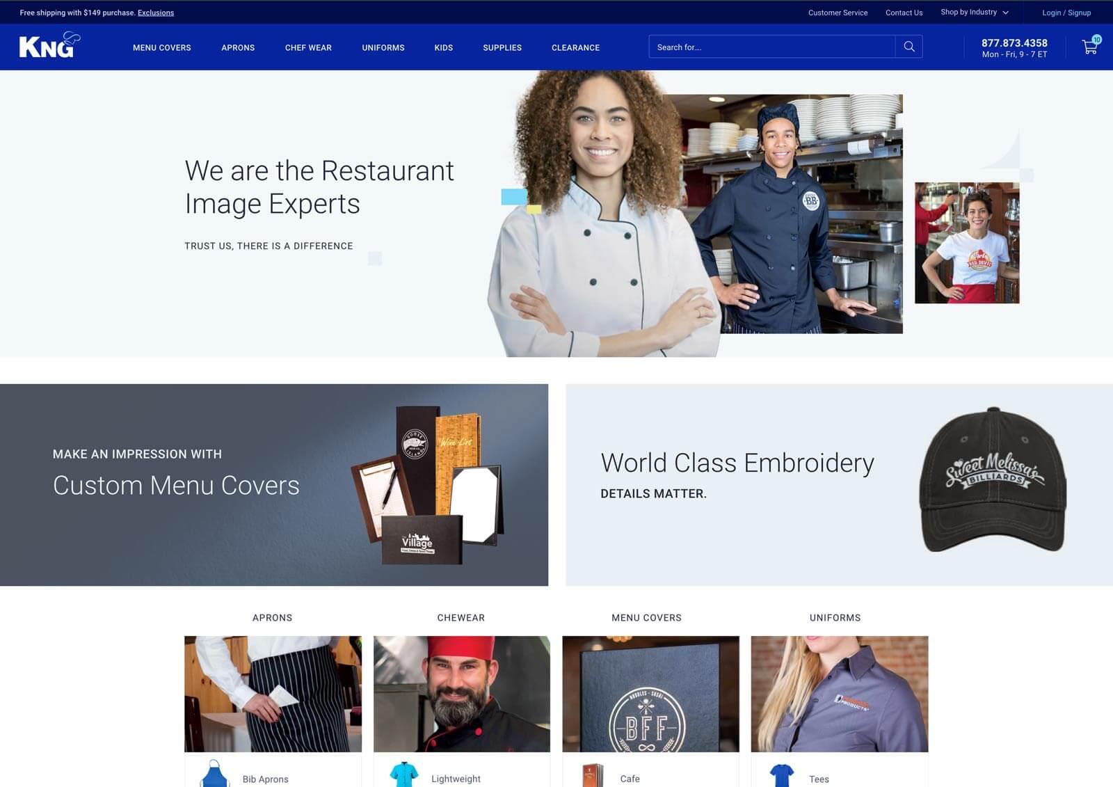 ecommerce website design project