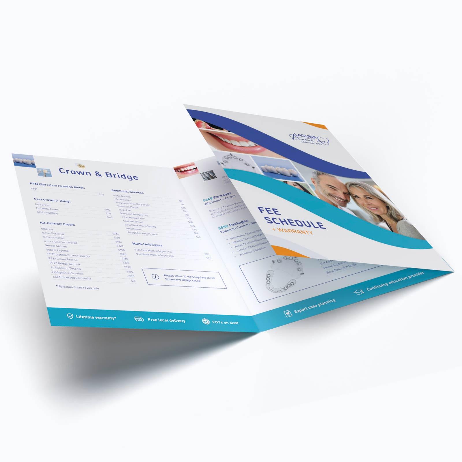 Dental Lab Brochure Design