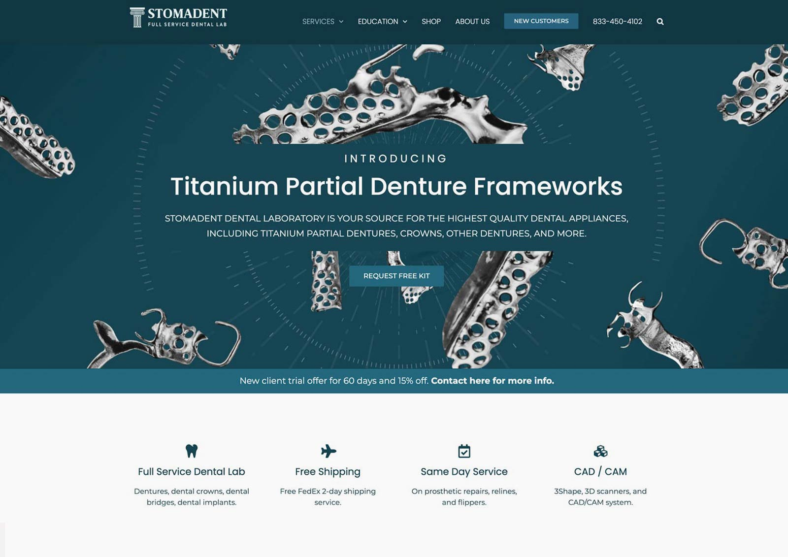 Dental Lab Web Design Project