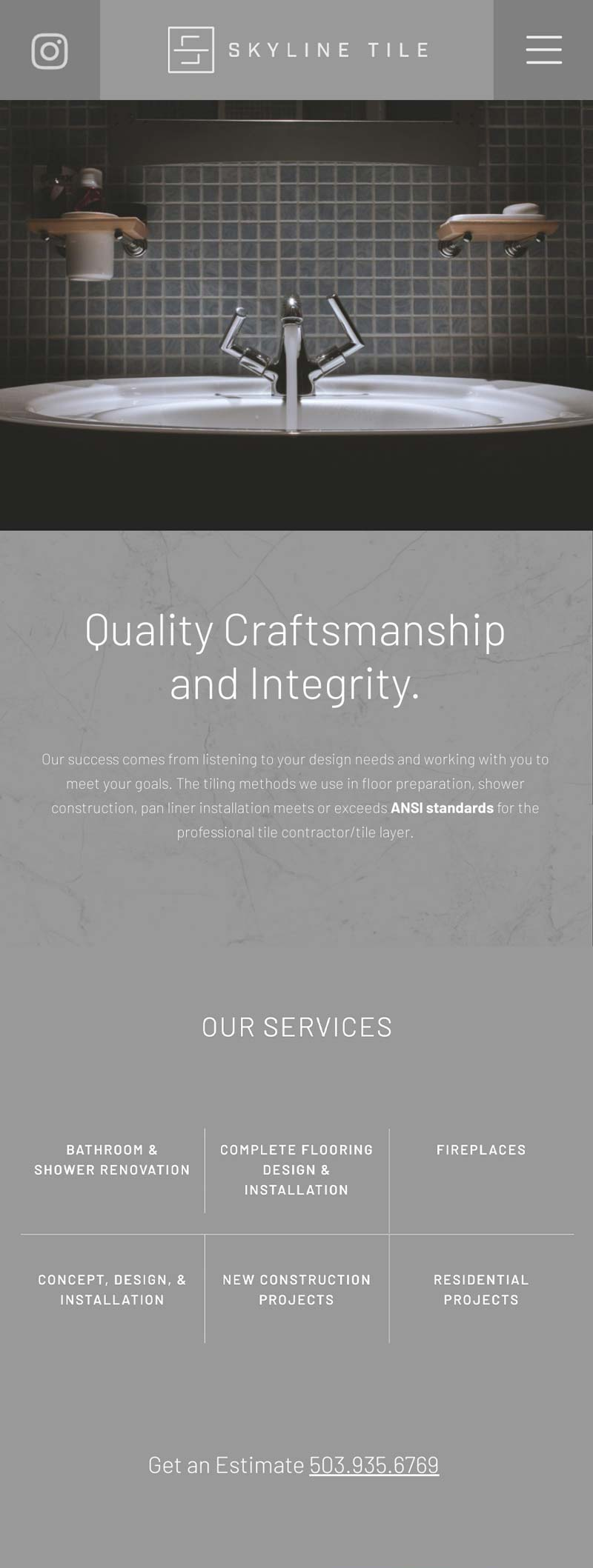 Mobile Tile and Remodling Web Design in Idaho