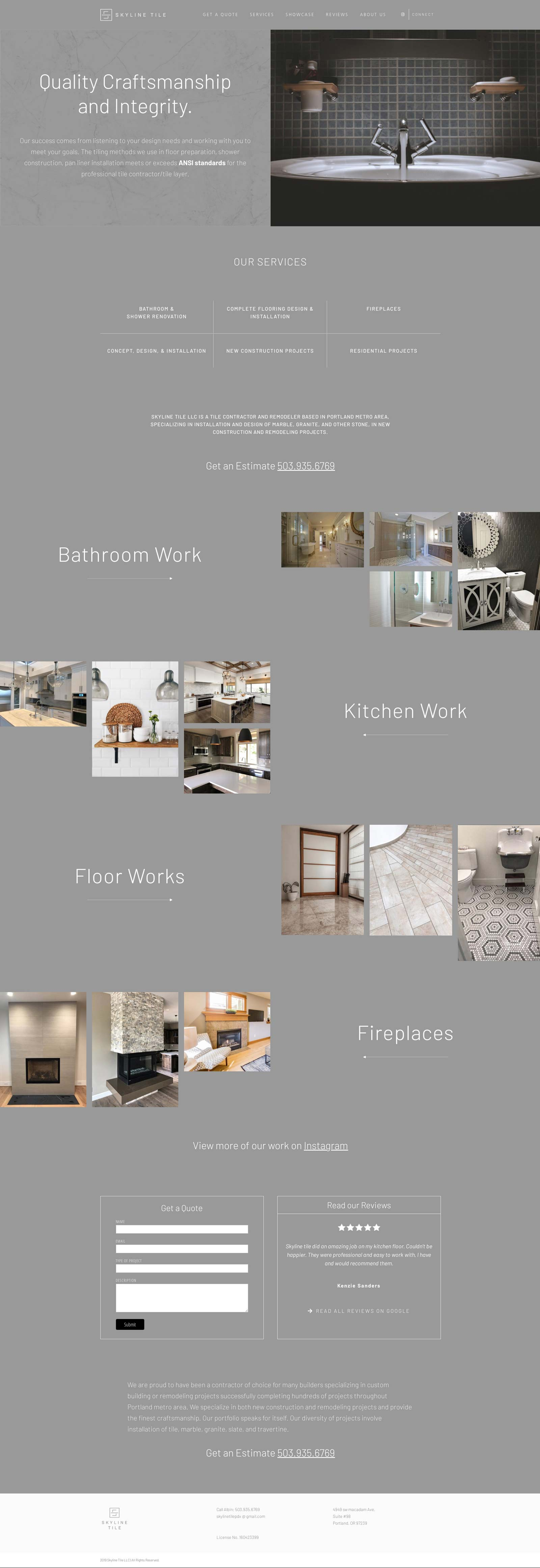 Tile and Remodling Web Design in Idaho